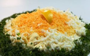 Салат мимоза в новом стиле