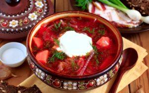 Украинский борщ в пятерке лучших супов мира